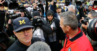 Jim Harbaugh Urban Meyer Michigan Ohio State