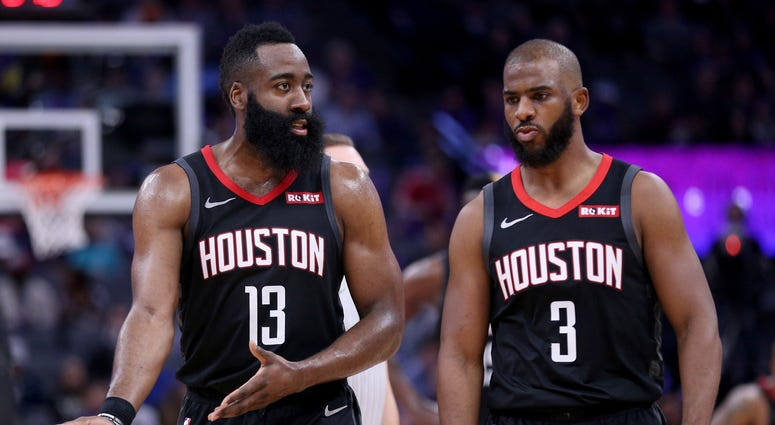 James Harden Chris Paul Houston Rockets NBA