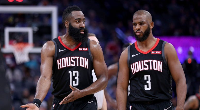James Harden Chris Paul Houston Rockets NBA