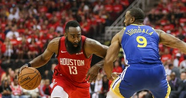 James Harden Andre Iguodala Rockets Warriors
