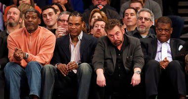 New York Knicks Owner James Dolan Watches From The Sidelines