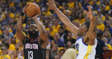 James Harden Houston Rockets Golden State Warriors