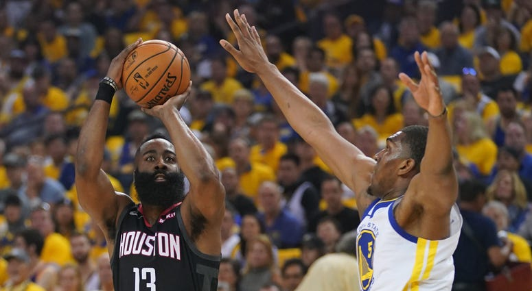 James Harden Houston Rockets Golden State Warriors