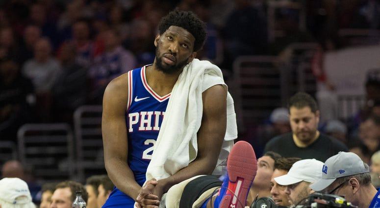 Joel Embiid Sixers Nets NBA Playoffs