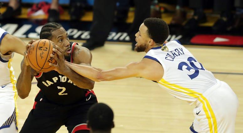 Kawhi Leonard Steph Curry NBA Finals