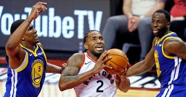 Kawhi Leonard Raptors Warriors NBA Finals Game 1