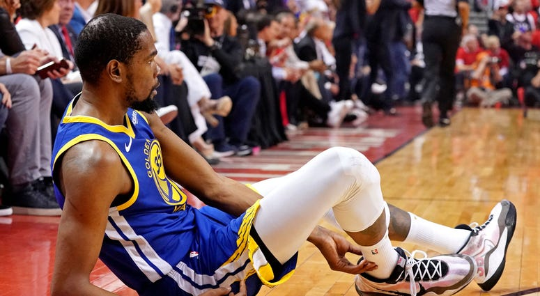 Kevin Durant Injury Game 5 NBA Finals