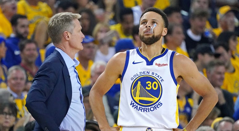 Steve Kerr Steph Curry NBA Finals Game 3