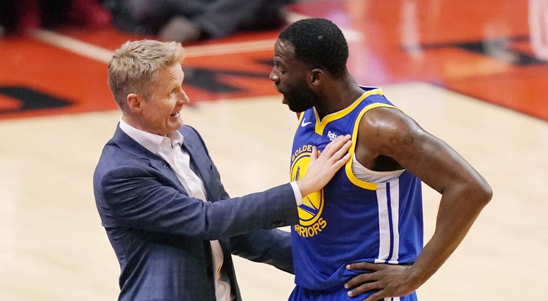 Steve Kerr Draymond Green Warriors NBA Finals