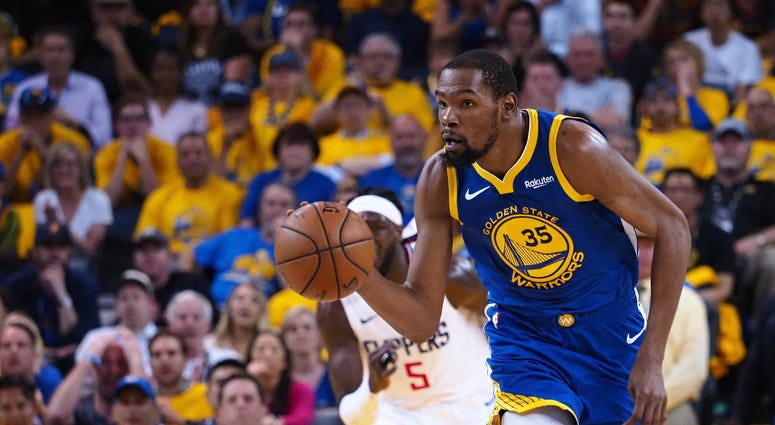 Kevin Durant Warriors Clippers NBA Playoffs