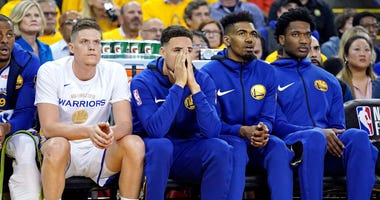 Klay Thompson Warriors Game 3 NBA Finals