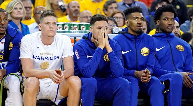 Klay Thompson Warriors Game 3 NBA Finals