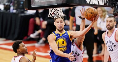 Klay Thompson Warriors Raptors NBA Finals