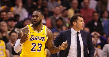 LeBron James Luke Walton Los Angeles Lakers