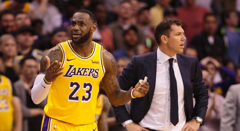 LeBron James Luke Walton Los Angeles Lakers