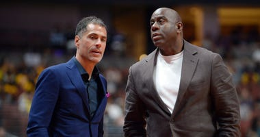 Rob Pelinka Magic Johnson Lakers