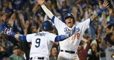 Manny Machado Los Angeles Dodgers NLCS MLB