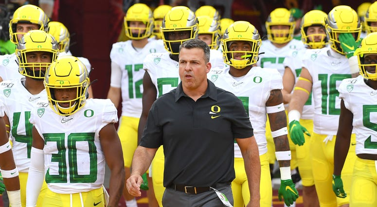 Oregon Coach Mario Cristobal