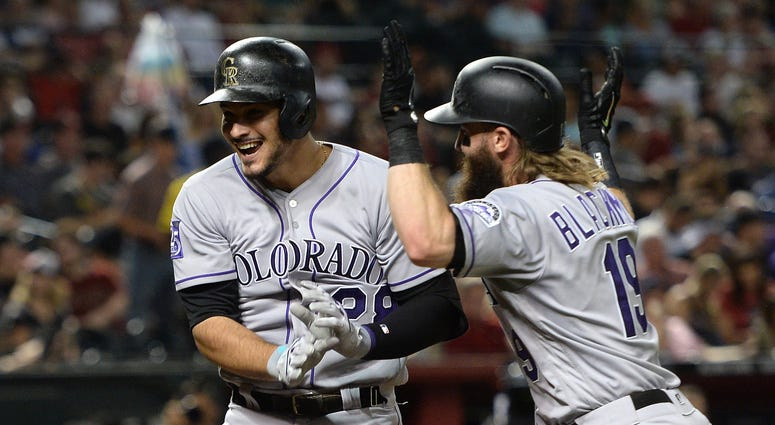 Nolan Arenado Home Run Charlie Blackmon Colorado Rockies MLB