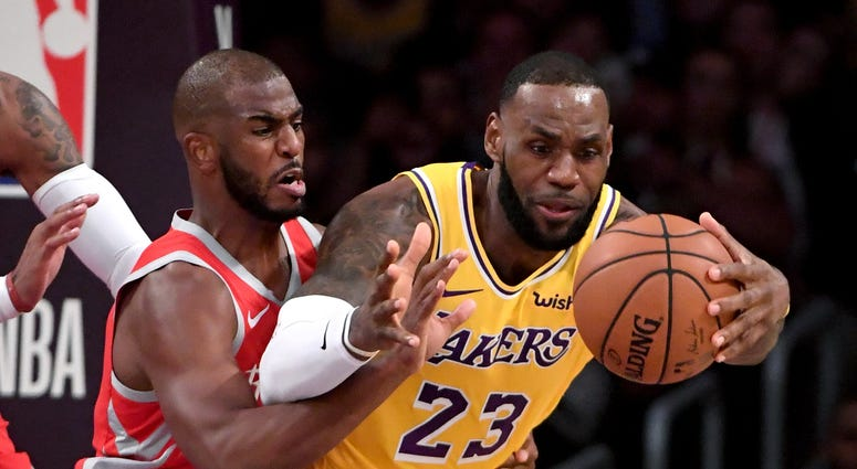 Chris Paul LeBron James Lakers