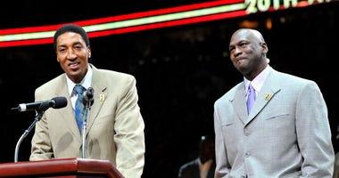 Scottie Pippen Michael Jordan Chicago Bulls