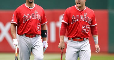 Albert Pujols Mike Trout Angels MLB