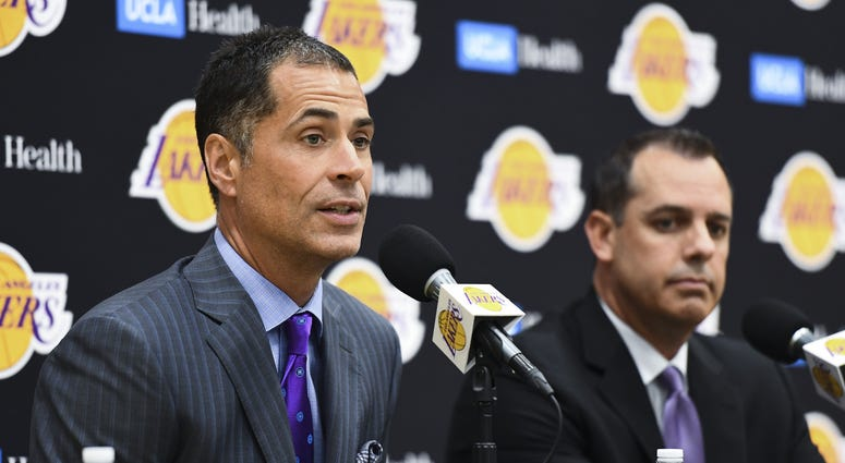 Rob Pelinka Frank Vogel Lakers