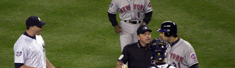Mike Piazza Roger Clemens Mets Yankees
