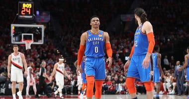 Russell Westbrook Oklahoma City Portland NBA Playoffs