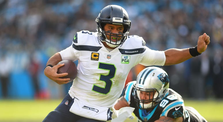 Russell Wilson Seattle Seahawks Carolina Panthers