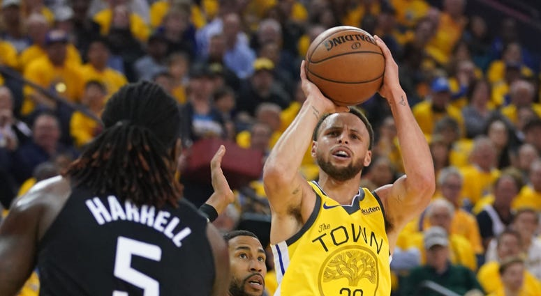 Steph Curry Golden State Warriors Clippers NBA Playoffs