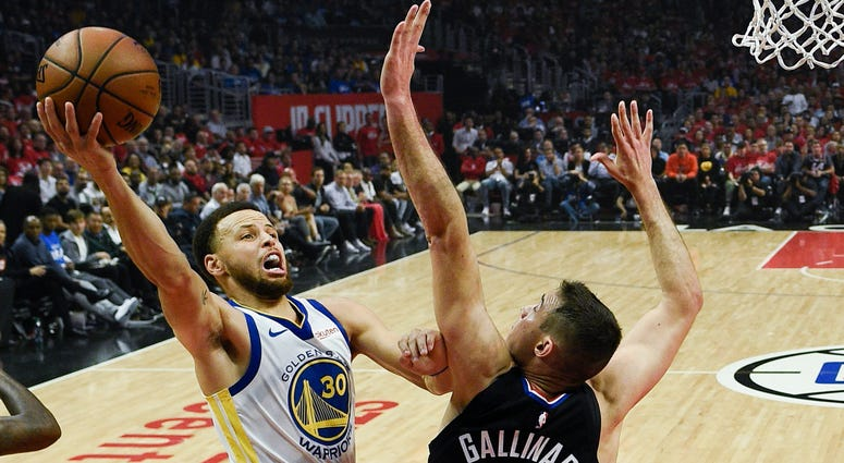 Steph Curry Warriors Clippers NBA Playoffs