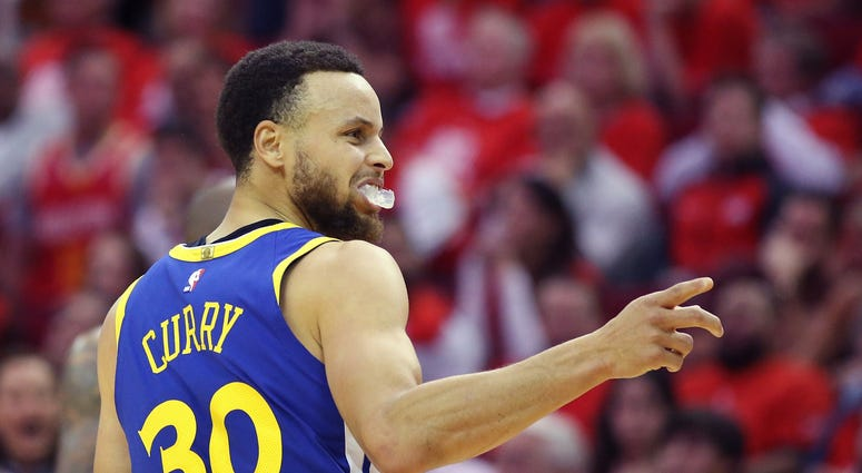 Steph Curry Warriors Rockets Game 6
