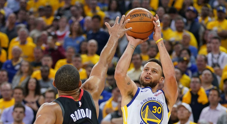 Steph Curry Warriors Rockets Game 5