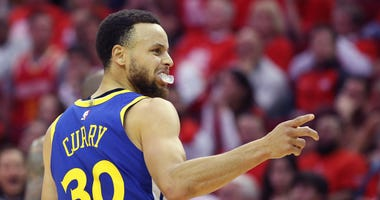 Steph Curry Houston Rockets Golden State Warriors NBA Playoffs