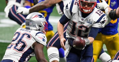 Tom Brady Sony Michel Super Bowl
