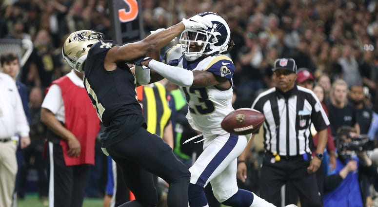 Tommylee Lewis Rams Saints NFC Championship Pass Interference
