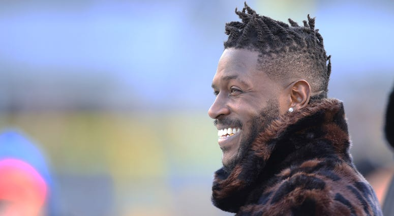 Antonio Brown (84) looks on during warm-ups before the Steelers host the Cincinnati Bengals at Heinz Field. Brown has been ruled out of the game due to injury.