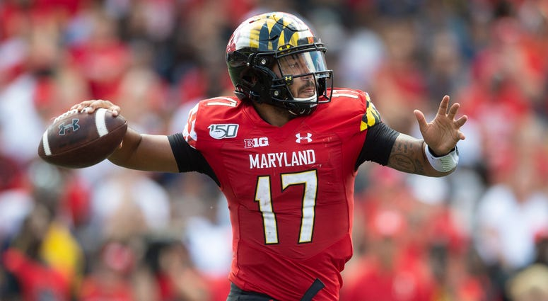 Maryland Terrapins quarterback Josh Jackson (17) throws during the second half against the Syracuse Orange at Capital One Field at Maryland Stadium.