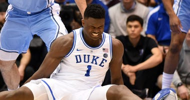 Zion Williamson Duke North Carolina Knee Injury