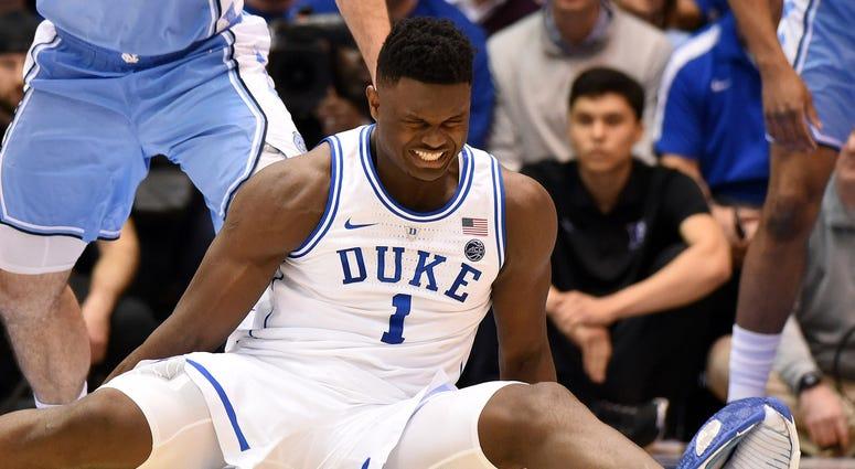 Zion Williamson Duke North Carolina Knee Injury