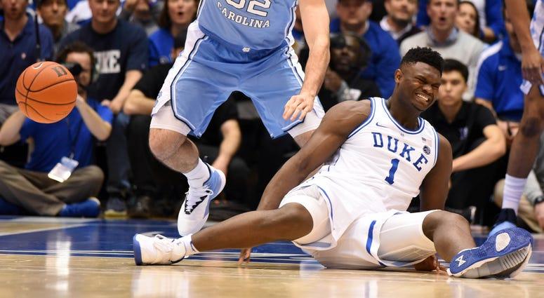 Zion Williamson Knee Injury North Carolina Duke