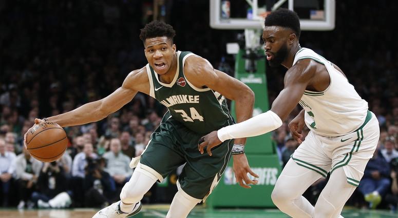 Giannis Antetokounmpo Milwaukee Bucks Boston Celtics
