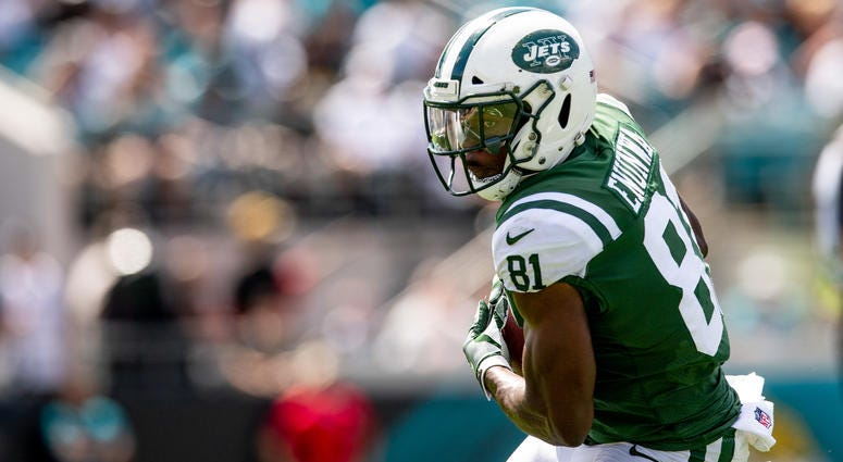 New York Jets wide receiver Quincy Enunwa (81) catches the ball during the first half against the Jacksonville Jaguars at TIAA Bank Field