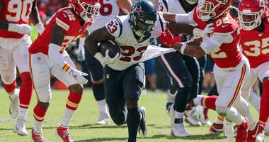 Carlos Hyde Chiefs Texans