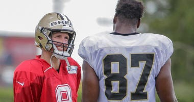 Drew Brees Jared Cook New Orleans Saints