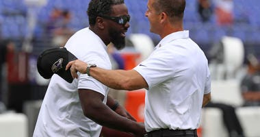 Ed Reed John Harbaugh Ravens