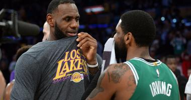 LeBron James Lakers Kyrie Irving