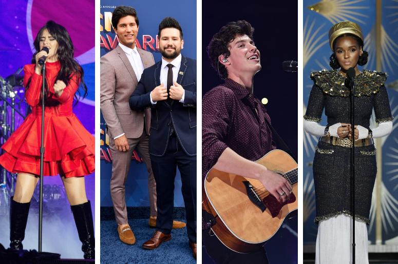 Camila Cabello, Dan + Shay, Shawn Mendes, Janelle Monae