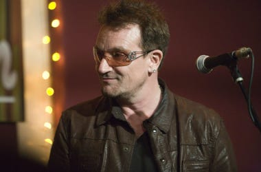 "Bono came down to the The Living Room in New York to sing a song with his fellow songwriter Glen Hansard, last Tuesday May 8th. They both sang ""The Auld Triangle""—a modern Irish anthem written in the early '60s by Dominic Behan."